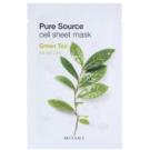 Missha Pure Source plátýnková maska se zklidňujícím účinkem Green Tea 21 g