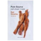 Missha Pure Source maska iz platna s poživitvenim učinkom Red Ginseng 21 g