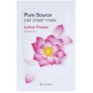 Missha Pure Source plátenná maska s hydratačným a upokojujúcim účinkom Lotus Flower 21 g