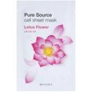 Missha Pure Source arcmaszk hidratáló és nyugtató hatással Lotus Flower 21 g