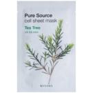 Missha Pure Source maska iz platna s čistilnim in osvežilnim učinkom Tea Tree 21 g