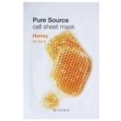 Missha Pure Source maska iz platna s posvetlitvenim in vlažilnim učinkom Honey 21 g