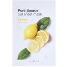 Missha Pure Source maseczka płócienna o działaniu odświeżającym Lemon 21 g