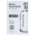 Missha Real Solution Cloth Facial Mask With Whitening Effect (with Glutathione) 25 g