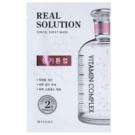 Missha Real Solution платнена маска с озаряващ ефект  25 гр.