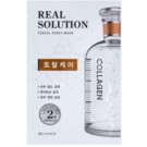 Missha Real Solution plátýnková maska pro kompletní péči (with Collagen) 25 g