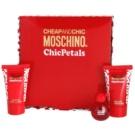 Moschino Cheap & Chic Chic Petals Geschenkset I. Eau de Toilette 4,9 ml + Duschgel 25 ml + Körperlotion 25 ml