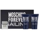 Moschino Forever Sailing lote de regalo I.  eau de toilette 4,5 ml + gel de ducha 25 ml + bálsamo after shave 25 ml
