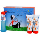 Moschino I Love Love set cadou VI. Apa de Toaleta 50 ml + Gel de dus 100 ml + Lotiune de corp 100 ml