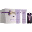 Mugler Alien set cadou XIII. Eau de Parfum 60 ml + Lotiune de corp 100 ml + Gel de dus 100 ml