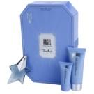 Mugler Angel lote de regalo XXIX.  eau de parfum 25 ml + leche corporal 100 ml + gel de ducha 30 ml + crema corporal 10 ml