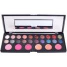 Naras Palette estuche de cosmética  con un espejo pequeño 26 Color (Healthy Shimmer & Matt Eyeshadow Palette With Blush Mirror)