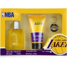 NBA Los Angeles Lakers set cadou Apa de Toaleta 100 ml + Gel de dus 150 ml + breloc