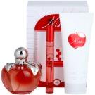 Nina Ricci Nina Gift Set XV.  Eau De Toilette 80 ml + Eau de Toilette roll on 10 ml + Body Milk 100 ml