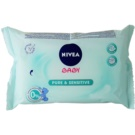 Nivea Baby Pure & Sensitive čistiace utierky pre deti (Cleansing Wipes) 63 Ks
