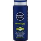 Nivea Men Energy Shower Gel On Face, Body And Hair  500 ml