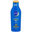 Nivea Sun Protect & Moisture leite solar SPF 20 (Moisturizing Sun Lotion Medium) 200 ml