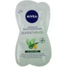 Nivea Visage Pure & Natural masca faciala hidratanta (Intensive Moisturising Mask) 2x7,5 ml