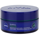 Nivea Visage Pure & Natural creme de noite regenerador  para todos os tipos de pele  50 ml