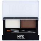 NYC Browser Brush-On sada pro dokonalé obočí odstín 876 Brunette 1,7 g