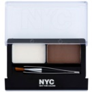 NYC Browser Brush-On Set For Perfect Eyebrows Color 876 Brunette 1,7 g
