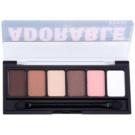 NYX Professional Makeup The Adorable палетка тіней з аплікатором  6 x 1 гр