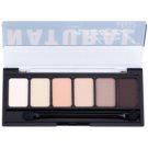 NYX Professional Makeup The Natural Palette mit Lidschatten mit einem  Applikator 6 x 1 g