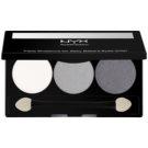 NYX Professional Makeup Triple paleta de sombras  tom 20 White Pearl/Silver/Charcoal 2,1 g