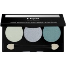 NYX Professional Makeup Triple paleta de sombras  tom 23 Sweet Lagoon/Aqua/Ocean 2,1 g