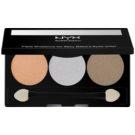 NYX Professional Makeup Triple paleta de sombras  tom 32 Olive Grove 2,1 g