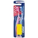 Odol Interdental escova de dentes medium Pink & Dark Blue