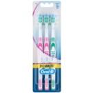 Oral B 1-2-3 Classic Care szczoteczki do zębów medium 3 szt. Pink & Pink & Green