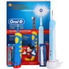 Oral B Family Edition D16.513.U + D10.51K elektrische Zahnbürste + elektrische Zahnbürste für Kinder (Profesinal Care 500 + Kids Mickey Mouse)