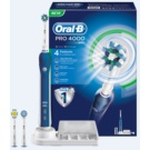 Oral B Pro 4000 D20.535.4 Electric Toothbrush (3 Replacement Brush Heads)