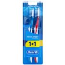 Oral B Pro-Expert CrossAction All In One Medium Toothbrushes 2 pcs Blue & Red (All in One)