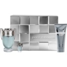 Paco Rabanne Invictus set cadou Apa de Toaleta 100 ml + Gel de dus 100 ml + Apa de Toaleta 5 ml