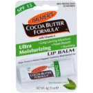 Palmer's Face & Lip Cocoa Butter Formula feuchtigkeitsspendendes Lippenbalsam SPF 15 Geschmack Dark Chocolate & Mint (Long Lasting Moisture, Fresh Breath, Soothing with Vitamin E) 4 g