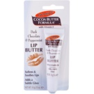 Palmer's Face & Lip Cocoa Butter Formula balsam pentru buze uscate aroma Dark Chocolate & Peppermint (Softens & Soothes Lips) 10 g