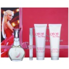 Paris Hilton Can Can set cadou II. Eau de Parfum 100 ml + Eau de Parfum 10 ml + Gel de dus 90 ml + Lotiune de corp 90 ml