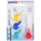 Paro 3Star Grip perii triunghiulare interdentare 4 bucati amestec Mix 1091 - 1095 (Interdental Brush with Patented Triangle Brush Cut)