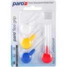 Paro Flexi Grip Interdental Brushes, 4 pcs Mix Mix 1072 - 1077 (Soft Rubber for a Non-Slip Grip)