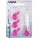Paro Flexi Grip periute de dinti extra subtiri 4 bucati 1078 Pink XXXXX-Fine 0,4 - 2,0 mm (Soft Rubber for a Non-Slip Grip)