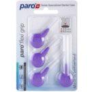 Paro Flexi Grip mezizubní kartáčky 4 ks 1077 Violet Coarse 0,9 - 8,0 mm (Soft Rubber for a Non-Slip Grip)