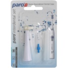 Paro Sonic Interdental Set Replacement Heads with Single Tuft and Interdental Toothbrush (Replacement Heads for Sonic Toothbrush Paro Sonic)
