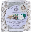 Perlé Cosmetic Natural handgemachte Seife Shea-Butter, Jasmin und Hafer  115 g