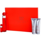 Perry Ellis 360° Red Gift Set I. Eau De Toilette 100 ml + Eau De Toilette 7,5 ml + Aftershave Balm 90 ml + Shower Gel 90 ml