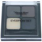 Pierre René Eyes Eyebrow paleta za ličenje obrvi odtenek 02 Black 4,5 g