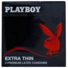 Playboy Extra Thin extra tenké kondomy  3 Ks
