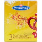 Primeros Fruit'n'color preservativos de color con aromas 3 ud