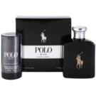 Ralph Lauren Polo Black coffret II. Eau de Toilette 125 ml + desodorizante em stick 75 g